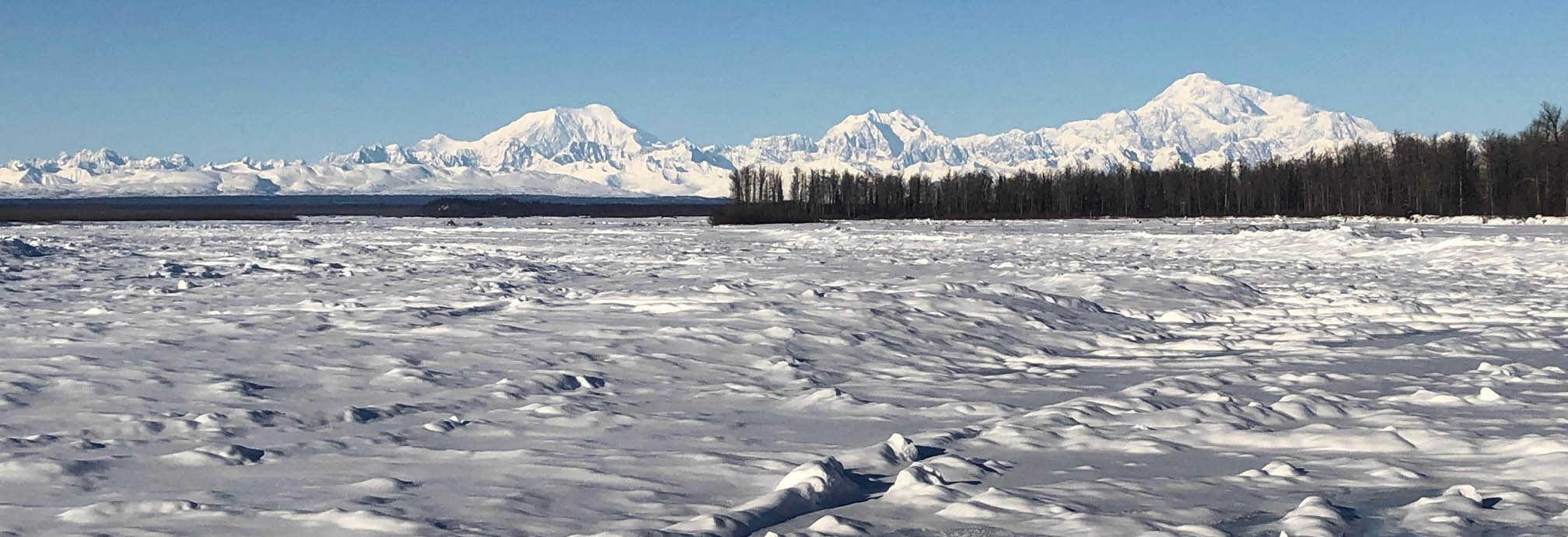 A view of Denali from the junction of the Talkeetna and Susitna Rivers,  the traditional land of the Dena'ina.